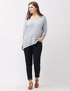 Asymmetric knit tunic