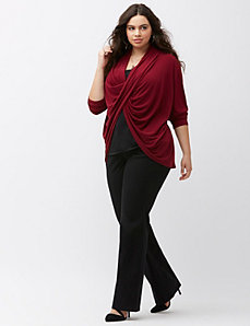 Draped surplice top