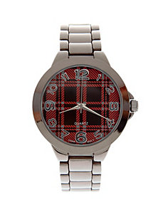 Plaid face watch