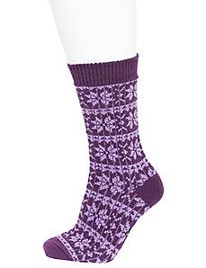 Fair Isle crew boot sock