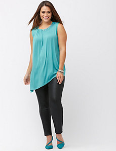 Studded satin trim tank