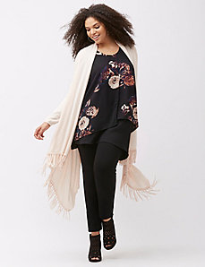 Fringe cardigan by Melissa McCarthy by Seven7