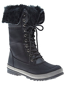 Fur lined winter boots