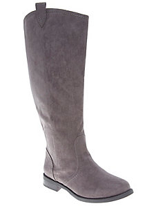 Faux suede riding boot