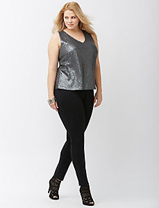 Sequin surplice tank