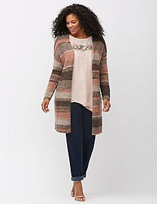 Striped Italian yarn overpiece sweater