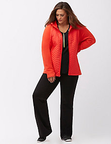 Quilted front active jacket