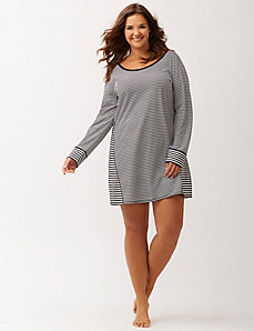 Mixed stripe sleep shirt