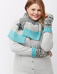 Color pop marled scarf