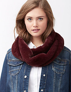 Colored faux fur eternity scarf