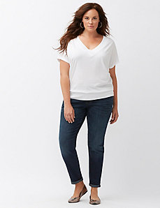 Double V banded bottom tee
