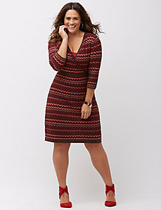 Multi Intarsia sweater dress