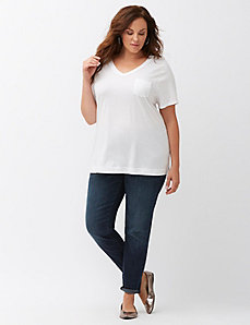 Step hem pocket tee