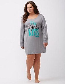 Long sleeve graphic sleepshirt