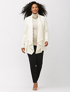 Tailored Stretch drape front jacket