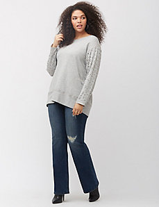 Jeweled sleeve sweatshirt by Melissa McCarthy Seven7