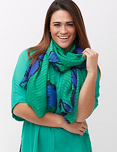 Whimsy floral scarf