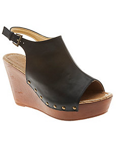Wooden wedge sandal