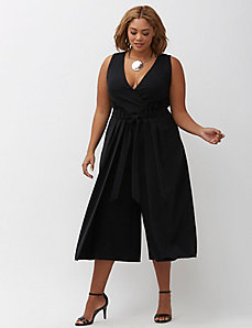 Infinite Stretch Wide Leg Crop Jumpsuit
