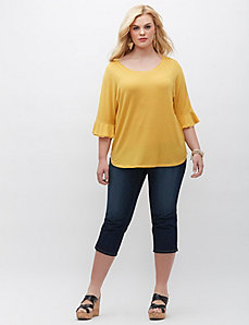 Flutter Sleeve Circle Top