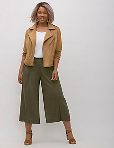 Pleated Wide Leg Crop