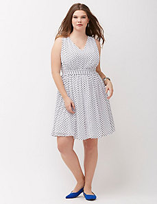 Dot Print Dress