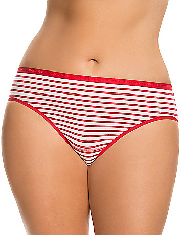 Comfy plus size Stretch cotton hipster panty