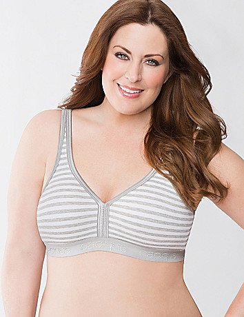 Plus size cotton no wire bra