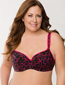 Lace Hearts Smooth Balconette Bra