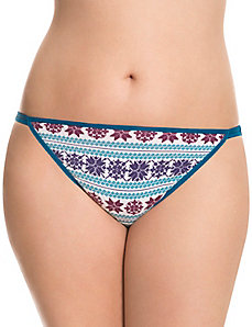 Sassy cotton string bikini panty