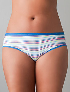 Stretch cotton hipster panty