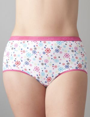 Stretch cotton brief panty