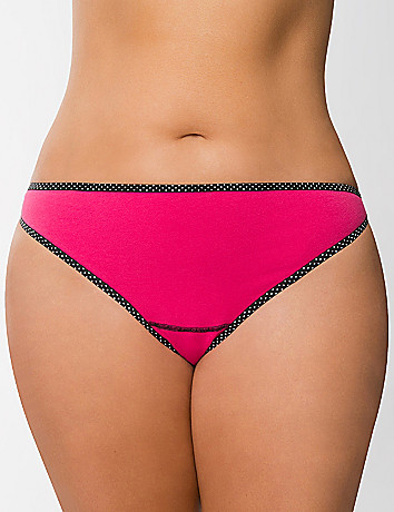 Sexy plus size Stretch cotton thong panty