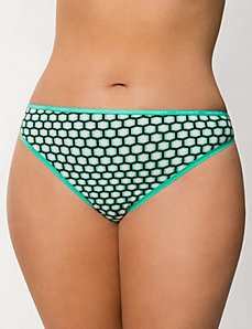 Sassy cotton thong panty by Cacique