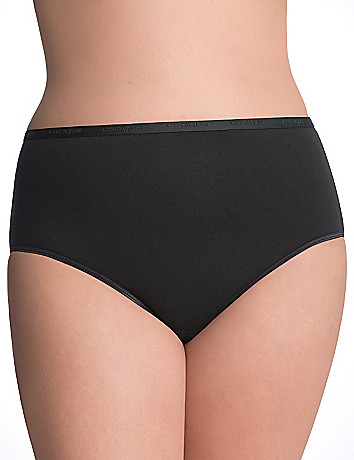 Comfy plus size Stretch cotton high leg panty
