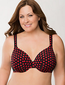 Smooth satin full coverage bra