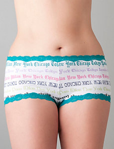 Novelty print hotshort panty by Cacique