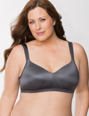 Smooth satin no-wire bra