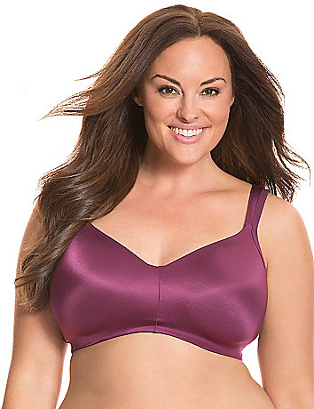Smooth satin nowire, wirefree plus size bra