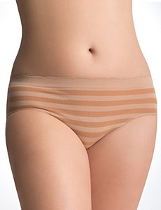 Seamless shadow stripe hipster panty by Cacique