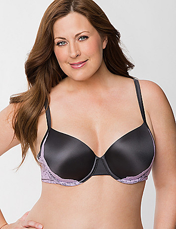 Smooth T-shirt bra with lace