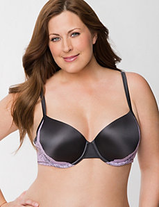 Smooth T-shirt bra with lace by Cacique