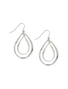 Double teardrop earrings by Lane Bryant