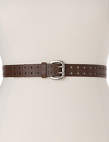 Plus sized classic double-prong belt