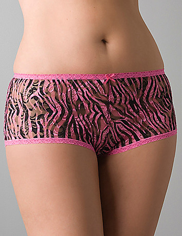 All-over lace boyshort panty by Cacique