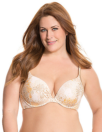 Cotton boost plunge push up bra in plus size