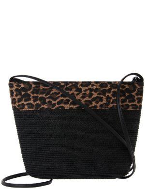 Animal straw shoulder bag by Lane Bryant