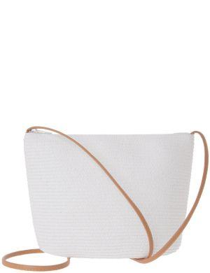 Straw shoulder bag by Lane Bryant