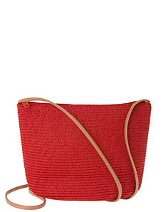 Straw shoulder bag by Lane Bryant