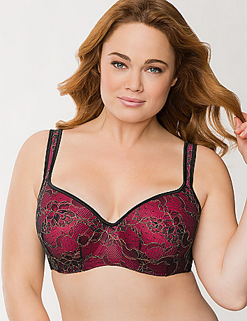 Plus size luxury lace balconette bra